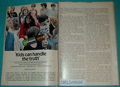 1980 Tv Article~The Body Human The  Facts For Girls~Marlo Thomas Missouri Kids~
