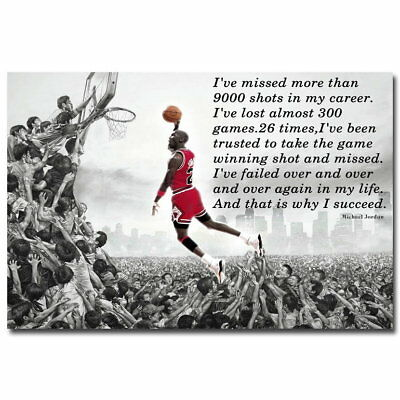 74472 Why I succeed Michael Jordan Motivational Quote Wall Print Poster AU