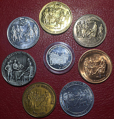 8 Medals / Various mints • Declaration of Independence / John Trumbull