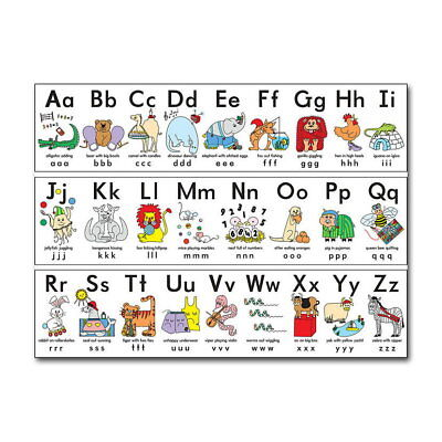 80585 My ABC Alphabet Learn Childrens Educational Wall Print Poster AU