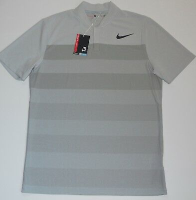 31bb0422 New Nike 2017 Tiger Woods Tw Zonal Cooling Stripe Golf Shirt 833171-100  Size M