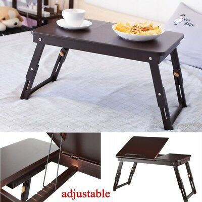 Portable Laptop Lap Stand Desk Table Tray sofa bed Mouse Foldable Adjustable AU