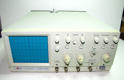 LG OS-5020 20MHz Analog Oscilloscope 2 Channel Working