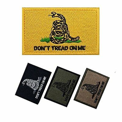 DONT TREAD ON ME GADSDEN FLAG MORALE PATCH (W/ Loop-Hook Fastener attached)