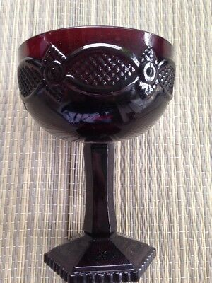 AVON 1876 Cape Cod, Ruby Red Saucer Champagne Glass US Seller Free Shipping