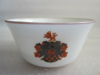 Mega Rare Antique Early 1800'S Kpm Berlin Hand Painted Armorial Porcelain Cup