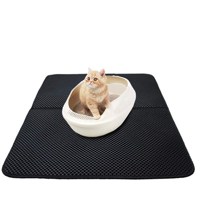 Cat Litter Mats Large Tray Mat Dual Structure Foldable Waterproof Kitty Trapper