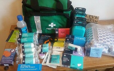 first aid bag with dressings wipes foil survival blanket first aid supplies