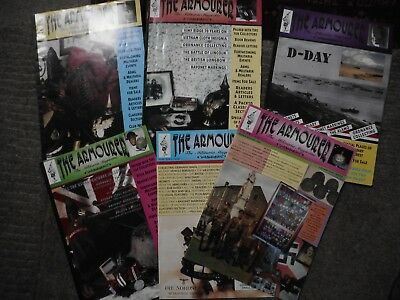 6 x The armourer magazine for year 1994 1st 6 in series