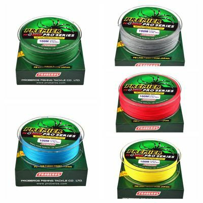 Super Strong 100/300M 8 Strands Weave PE Braided Fishing Line Rope Multifilament