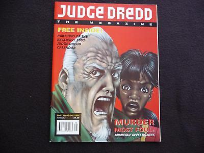 Judge Dredd Megazine vol 2  issue 11 comic with free calandar part 2 (LOT#711)