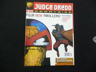 Judge Dredd Megazine volume 3 issue 34 VGC with gatefold cover (LOT#2729)
