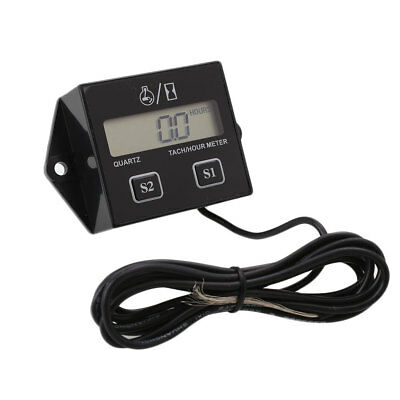 Digital Engine Tach Tachometer Hour Meter RPM Inductive For Motorcycle ATV