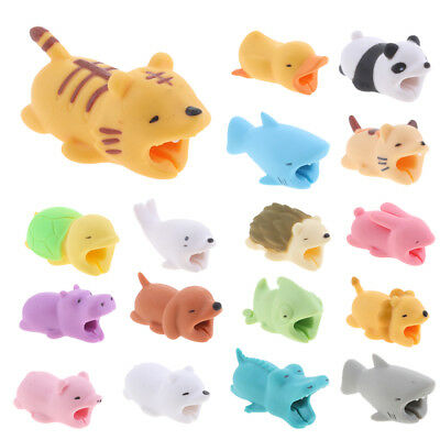Animal Cute USB Data Charger Cable Headphones Saver Protector Sleeve