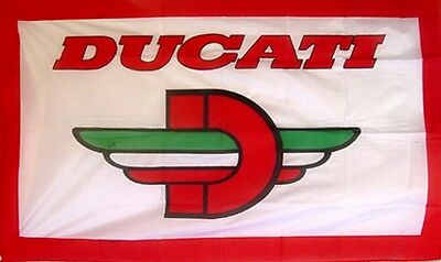 DUCATI FLAG HUGE .Classic car show, Man Cave, Garage, Shed