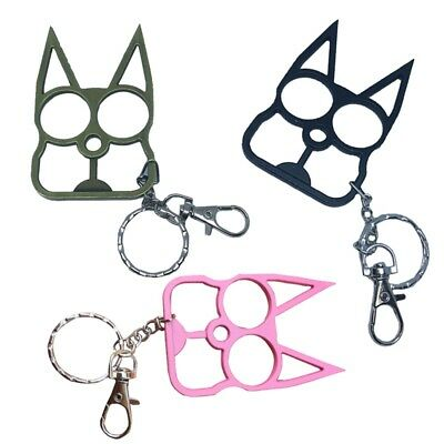 Lovely Cat Key Chain Outdoor Unique Protection Self Defense Buckle Keyring 1pc