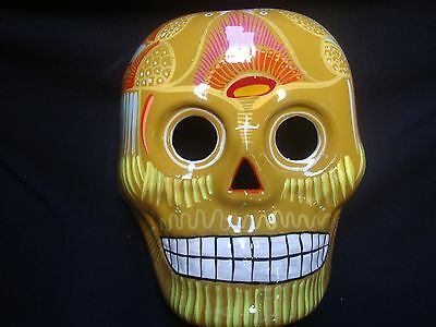 DAY OR THE Dead sugar skull mask, wall decor, Muertos ,Mexican ART ...