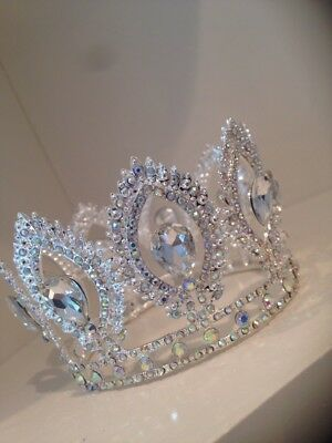 Baby Crown . Full Crystal Crown . Baby /child Sized Crown . Crystal