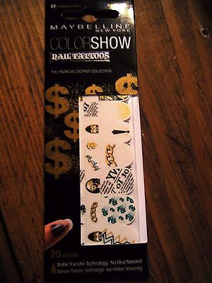 Faux Ongles ColorShow Nail Tattoos-Gemey Maybelline -Financial district 03-NEUF