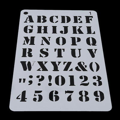 Letter Number Stencils Alphabet Stencil Journal Scrapbooking Painting Craft