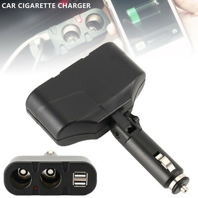 2 WAY MULTI SOCKET CAR CIGARETTE CHARGER LIGHT SPLITTER USB DC 12V 24V New
