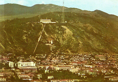 Georgien  -  Tiflis / Tbilisi - View of the city with Funicular Restaurant