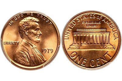 1979 Pennies Full Mint Roll One Cent Coins Lincoln Memorial 1 Cent  Usa Coins