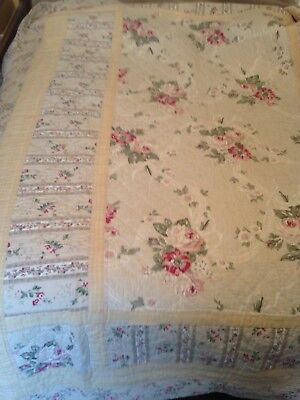 Vintage Antique Hand stitched Quilt From France