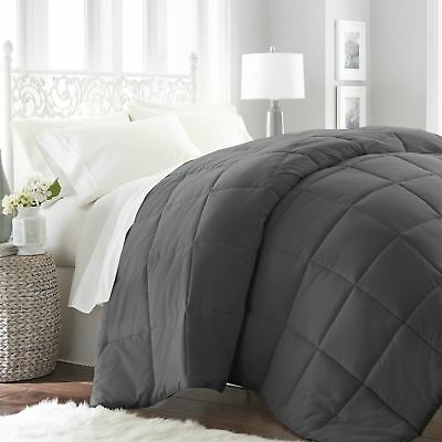 White Grey Soft Goose Down Alternative Comforter Set , Twin , Queen , King Size