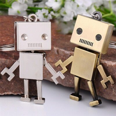 Movable Metal Robot Keychain Keyring Key Chain Ring Bag Purse Pendant GiftP&C