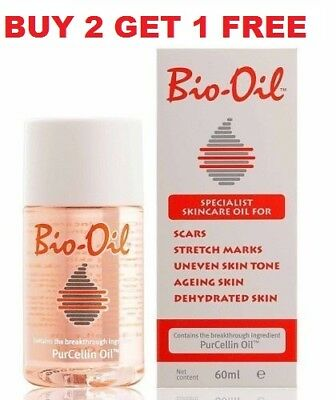 Bio-Oil 60ml/2oz(For Scars, Stretch Marks, Uneven Skin Tone & Aging)Buy 2 GET 3