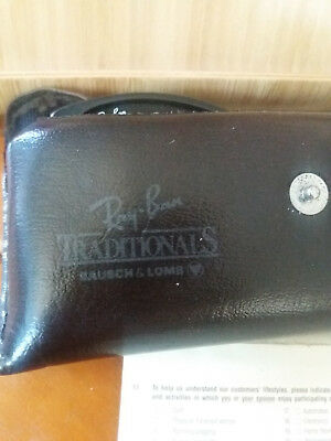 Vintage Ray Ban Traditional Bausch And Lomb With Case And Guarantee Paper