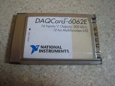 National Instruments DAQCard-6062E NI DAQ Card PCMCIA Analog Input Multifunction
