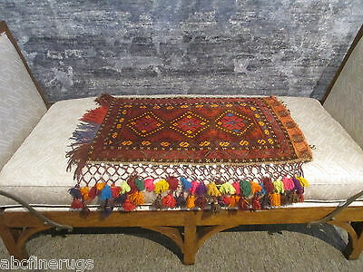 "2'1""x3'3"" Decorative Pillow Cover Wall/Sofa Hanging Hand-knotted Wool Rug 581080"