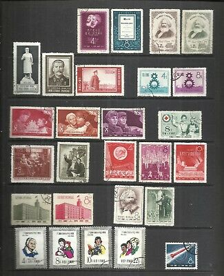 CHINA-CHINE:1950's LOT OF  12  USED COMPLETE SETS . ORIGINAL &  GENUINE