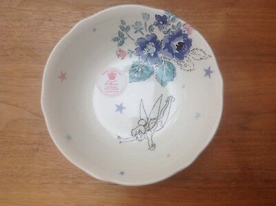 BRAND NEW Cath Kidston Disney Peter Pan Tinkerbell Sketched China Bowl SOLD OUT