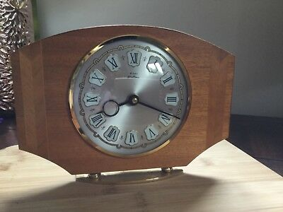 Bentima ART DECO 1930's Wooden 8 day Mantle Clock FRENCH complete & working