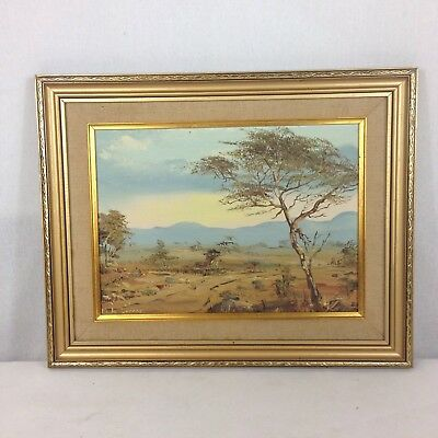 M Le Granger? Signed Vintage South African Landscape Oil On Board