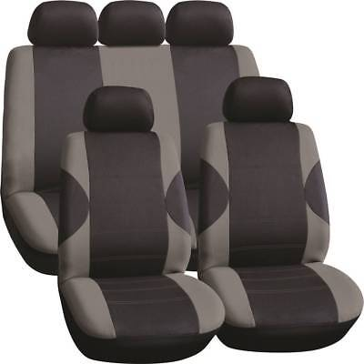 LUXURY BLACK & GREY PANEL SEAT COVER SET for LAND ROVER DISCOVERY SPORT (16-ON)
