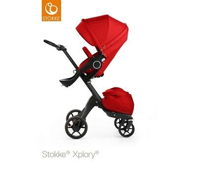 STOKKE Xplory V5 Red - Black Chassis 480004 NEW Express UK Delivery