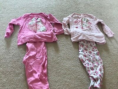 Girls Disney Dalmation Pjamas. Size 9-12 Months. Good Condition