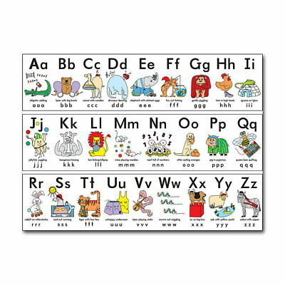 80585 My ABC Alphabet Learn Childrens Educational Wall Print Poster UK