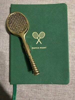 Anthropologie Tennis Match Notebook And Clip