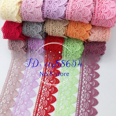 A136 1 Yard, Trim Lace Ribbon For Dress Veil skirt Embroidered Sewing DIY Craft