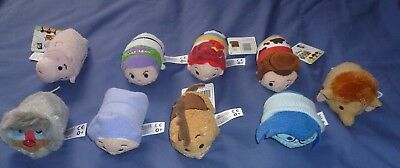 Lot Of 9 Disney Tsum Tsum - Buzz, Woody, Sadness, Jessica And More