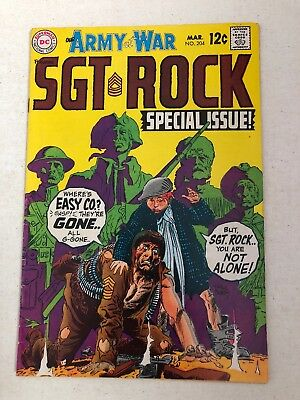 Our Army At War Sgt. Rock Special No. 204 DC Comics Joe Kubert 1968