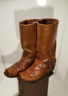 Vintage Sierra Brown Leather Harness Boots 9/9.5D