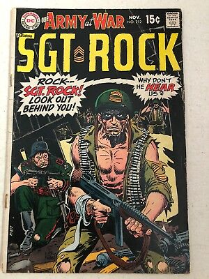 Our Army At War Sgt. Rock Special No. 212 DC Comics Joe Kubert 1969