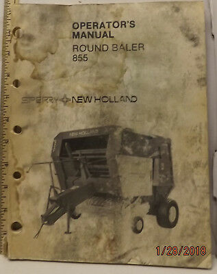 sperry new holland 855 round baler operator s manual fair some abuse rh picclick com 1086 Pulling New Holland Round Baler 1086 Pulling New Holland Round Baler
