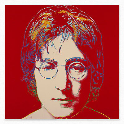 Andy Warhol John Lennon 100x100 cm  STAMPA TELA CANVAS PRINT TOILE  POP ART